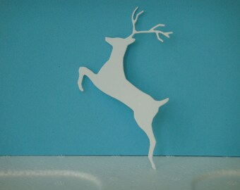 White deer for scrapbooking or card cutting