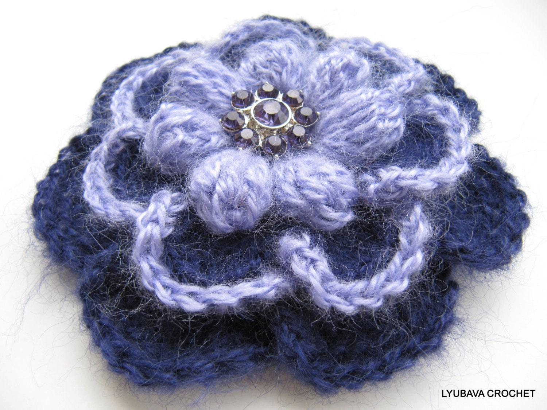 Crochet PATTERN, Crochet Flower Pattern, Crochet Brooch Pattern, 3d ...
