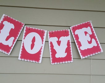 Love Banner, Valentines day