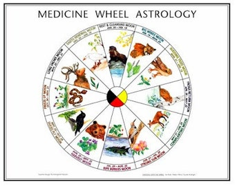Medicine Wheel Astrology Art Poster