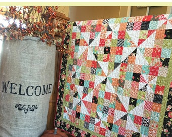 Pinwheels Over Patchwork - Carried Away Quilting CAQ-002