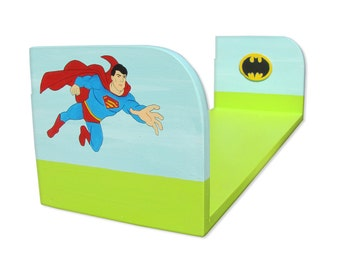 Nursery Shelves Wall Decor Superman Kids Shelf Childrens Furniture Super