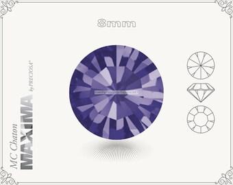 6 pc.+ SS39 (8mm) Preciosa MC Chaton MAXIMA - Purple Velvet Color