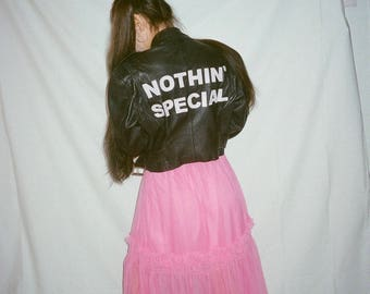 nothin' special leather moto jacket