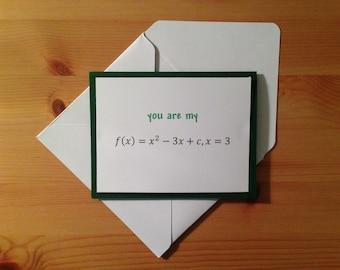 Math Anniversary Card - Math Love Card - Math Birthday Card - Algebra Anniversary Card - Algebra Love Card - Algebra Birthday Card