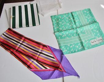 Vintage Diane Von Furstenberg Silk Scarf, Silk Scarf, Long Silk Scarf, Green Scarf, Striped Scarf, Baar and Beards, Harzfelds, unused