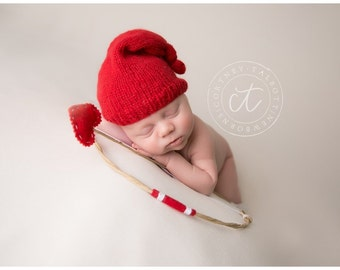 Cupid Bow and Arrow Set - Perfect Valentines Day or Sweethearts Boy or Girl Newborn Photo Prop