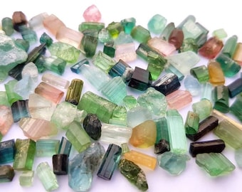 100 carats natural tourmaline mix color piece from Afghanistan mine.