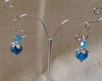 "Earrings ""blue duo"""