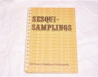 Sesqui Samplings Indiana 150 Year Cookbook Vintage 70s