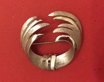 Vintage Coro Silver Brooch