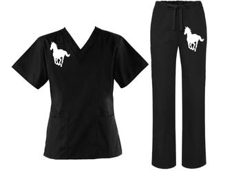Horse scrub and pants set