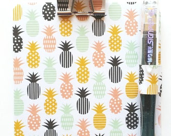 Pineapples, Post It Notes Holder, Cute Sticky Notes, Kid's Gift, Custom Notepad, Sticky Note Holder, Pineapple Notepad Set, Cute Teen Gift