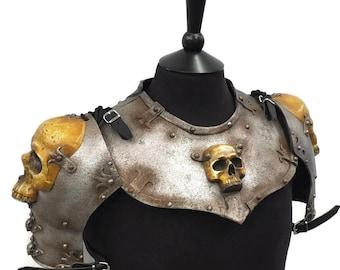 Larp Armor, Ominous Skull Gorget Set