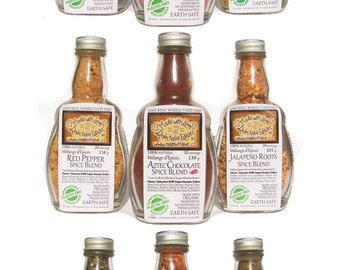 Stock up your Pantry - Any 3 medi-size Spice Blends - Herbs & Spices - Organic Food Spice Rub Glaze - DIY Dip Mix Pasta Sauce Salad Dressing