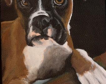 Leather Crossbody Purse 'Sasha' a Boxer pup