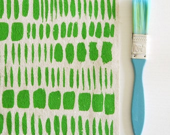 Brushstokes screen printed fabric hand screen printed fabric for patchwork, sewing, embroidery, crafting & framing in bright colours/colors