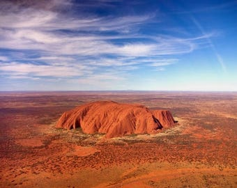 Laminated placemat Ayers Rock Australia