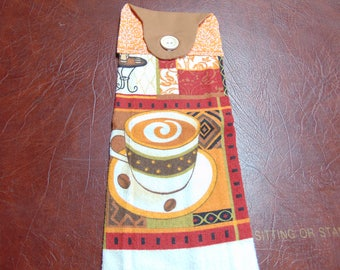 Set of 2 --  Hanging Kitchen Towel   Coffee Cup