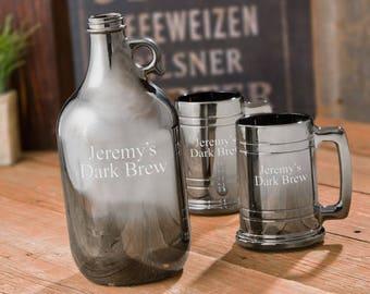 Groomsmen Gift - Growler - Growler Gift - Personalized Growler - Glass Beer Growler - Christmas Gift - Gift for Him - Wedding Party Gift