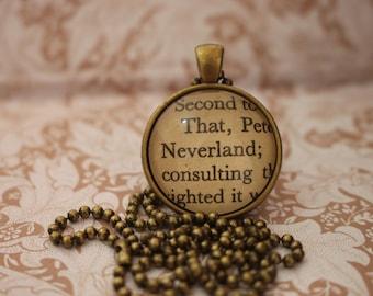Neverland Pendant/Necklace ~ Peter Pan ~ J.M Barrie