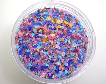 Côte d'Azur Frit Blend for Lampwork Bead Making 96 CoE Light Blue Violet Rose Pink Turquoise Aqua Purple Gold Yellow - Available in 2 sizes