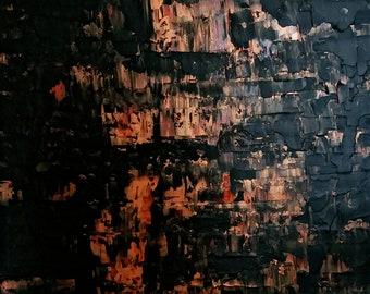 """Meine Seele auf Feuer. Ursprünglichen abstrakten Leinwand Kunst Malerei 24 """"x 18"""""""