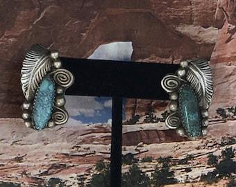 Vintage  Sterling Turquoise Navajo Earrings