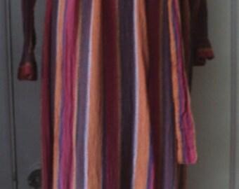 CAFTAN, Design Sample, One of a Kind, VINTAGE, Handloom, Novelty Gauze, Ethnic, India, Loungewear, for Saks Catalog, One Size