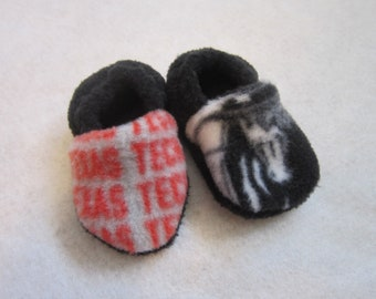 Texas Tech Masked Rider baby booties