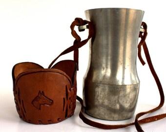 Beer Tankard, Groomsmen Gift, Beer Mug, Equestrian Gift, Horse Lover Gift, Renaissance Cup, Drinking Cup, Drinking Jug, Silver Drinking Jug