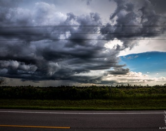Sun and storm, florida weather, sunny storm photo