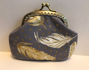 Gold Feathers Coin Purse
