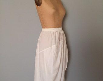 grecian white wrap skirt | rayon midi skirt