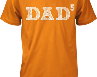 Dad5, Five Kids, Father's Day, Father of Five Men's T-shirt, NOFO_00473
