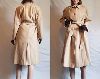 AQUASCUTUM pure new wool camel coat