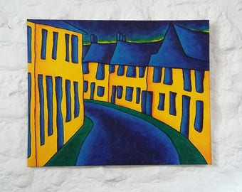 "Original Oil Painting, Original Landscape Painting, Art Expressionism, Original Oil Painting Canvas 30""x24"" Impressionist Art Colorist"