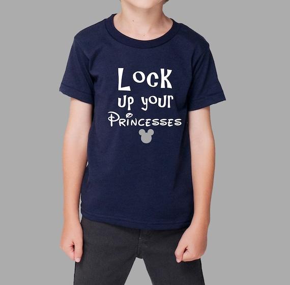 Lovely Lock Up princesses T Shirt // disney shirt // funny disney AI83