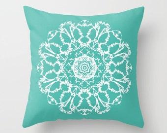 Mandala Pillow  - Teal Pillow  - Modern Home Decor - Accent Pillow - Decorative Pillow - Aldari Home