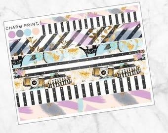 Weekly Kit / ADD ON / The Glam Traveler / Washi Sheet / Planner Stickers