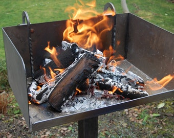 BBQ fire Grill of grilling with wood