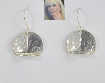 Hammered Sterling Silver Earrings CSS164E