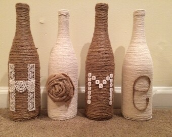 Home Twine Bottle Decor