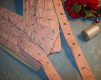 An old Ribbon clips, clothing, corsets