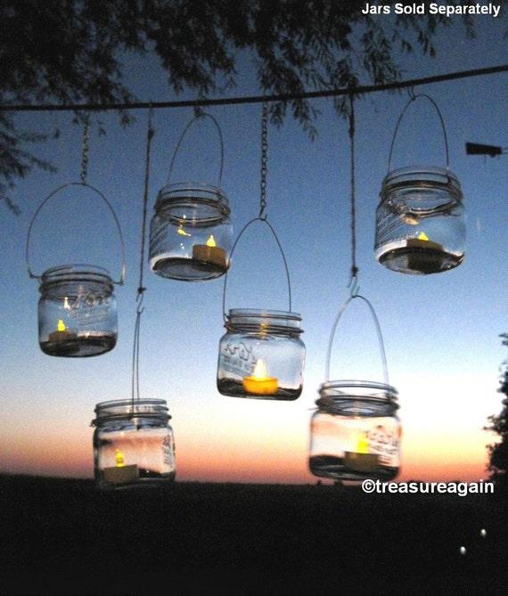 8 diy wide mason jar lanterns wedding lights ball mason jar solutioingenieria Image collections