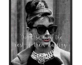 Audrey Hepburn Quote Framed Poster