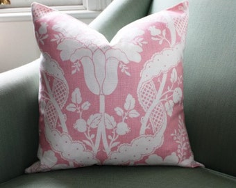 Vervain Bellastone Pink 20 Inch Pillow Cushion Cover