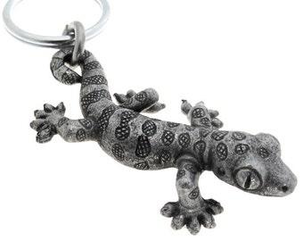 Gecko Keychain, Herpetology Reptile Keychain