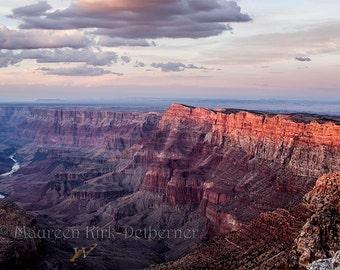 National Park, Grand Canyon, large print, 20 x 30, sunset photo, orange living room, wall art, Arizona, southwestern