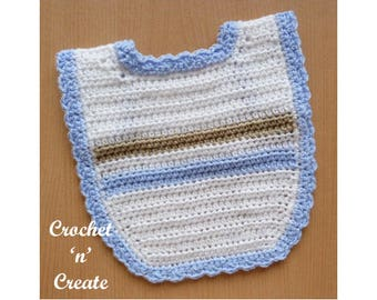 Baby Bib Crochet Pattern (DOWNLOAD) CNC79